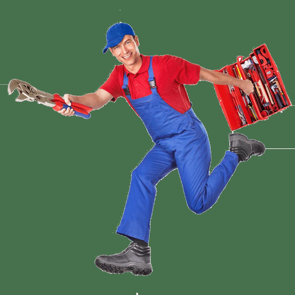 Handwerker mit Koffer